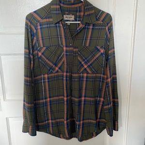 Express Green Flannel Sz S